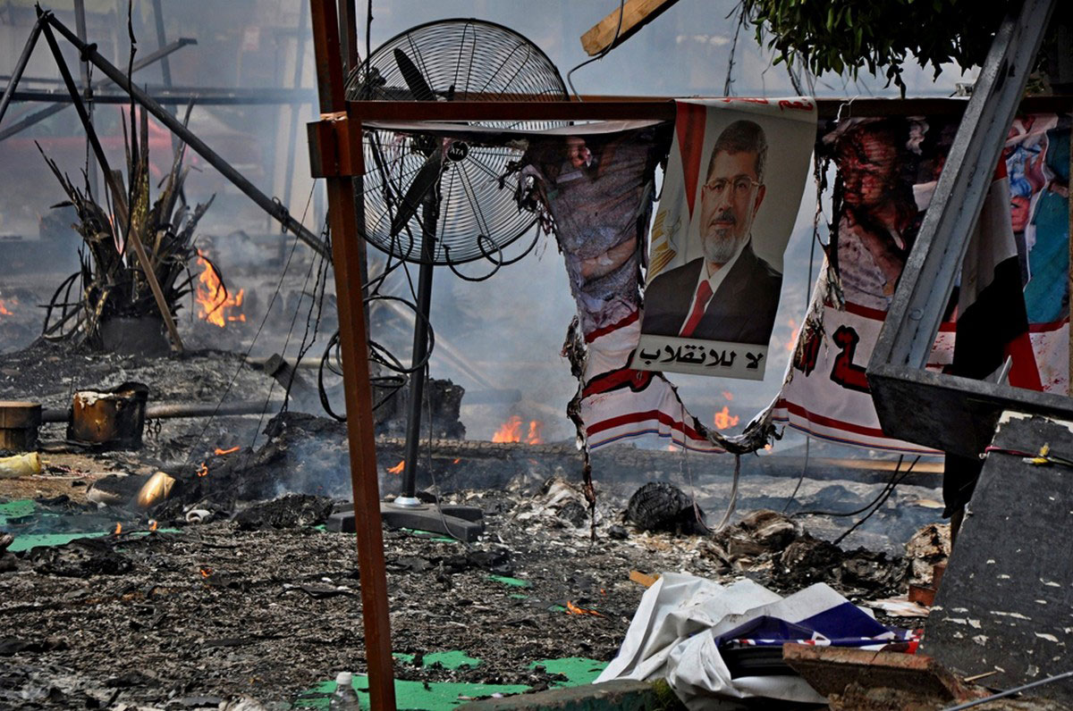 разрушения на каирской площади