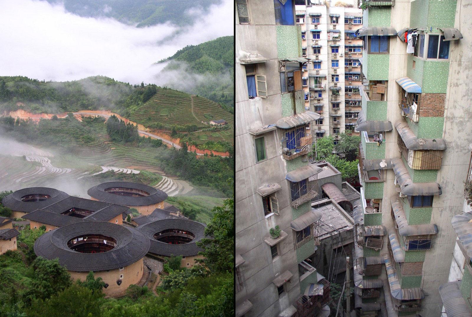 город и деревня Китая