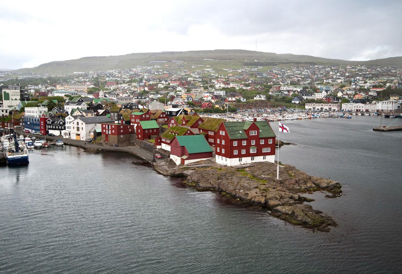 Гавань Торсхавн (Torshavn), фото с фарерских островов