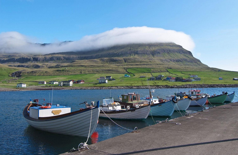 лодки в Фамьен (Famjin), фото с фарерских островов