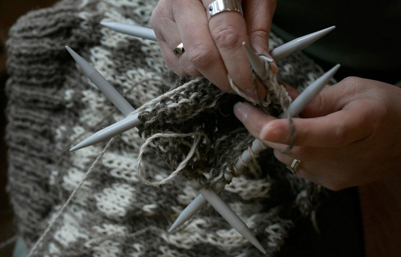 традиционный фарерский шерстяной свитер