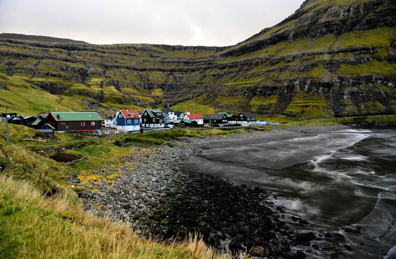 Село Тьёрнувиг, фото с фарерских островов
