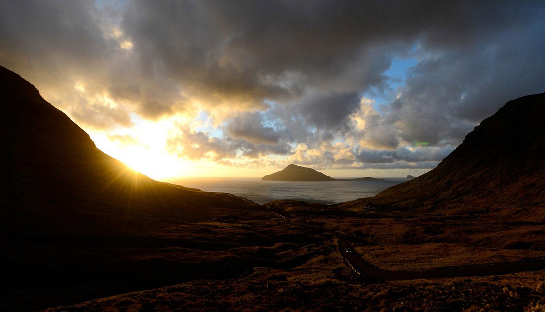 Закат на острове Колтур, фото с фарерских островов
