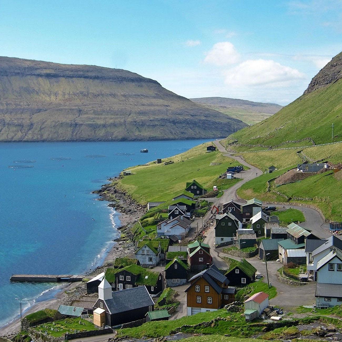 домики на фарерских островах