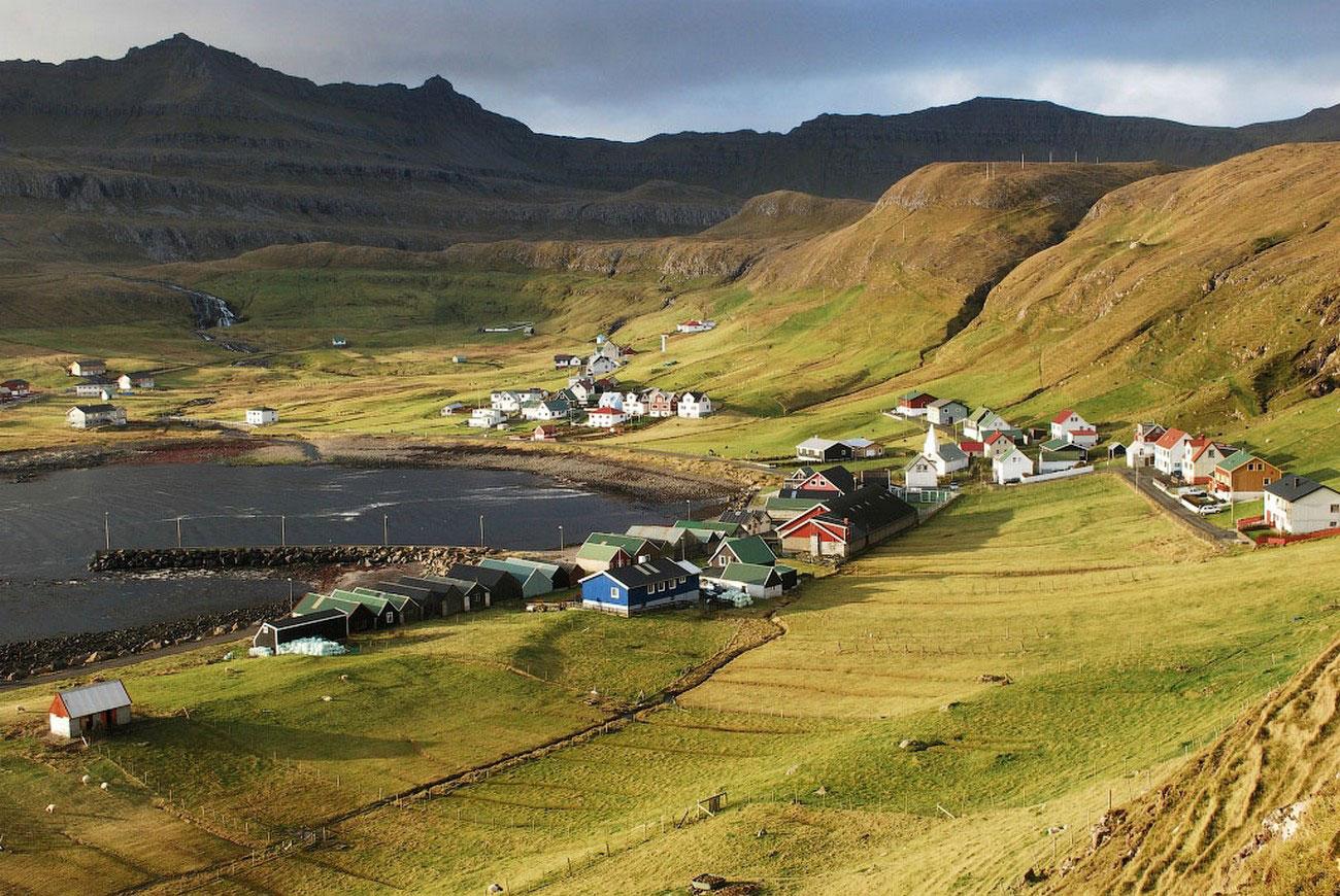 Село Famjin, фото с фарерских островов