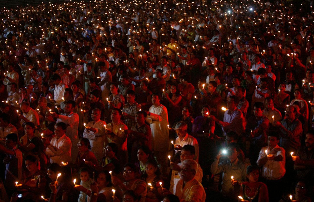 свечи во время празднования Дивали