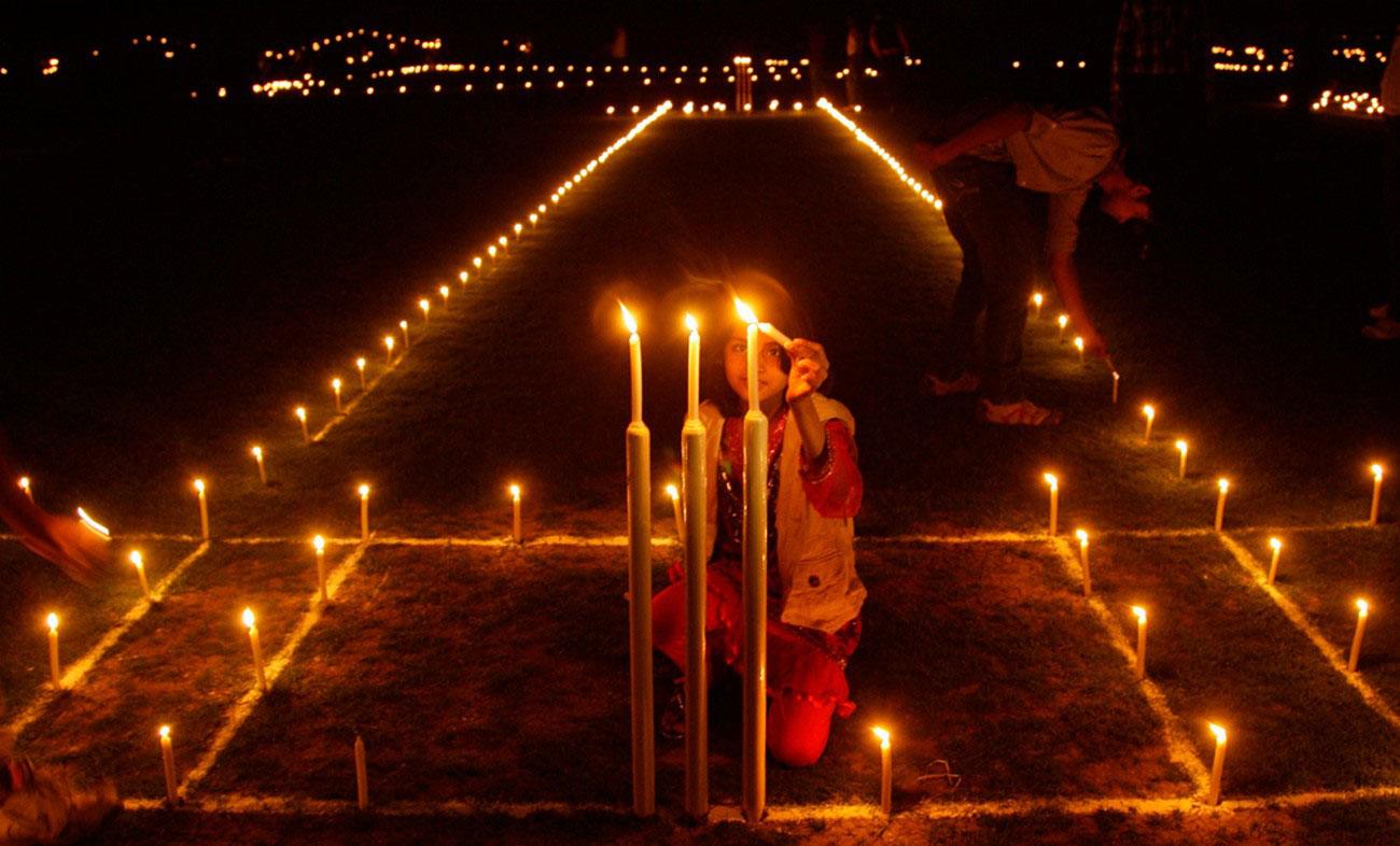 свечи в канун Дивали