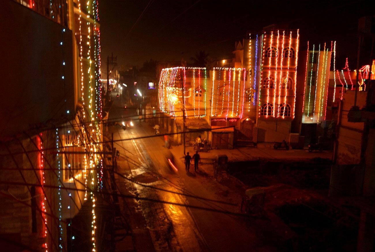 в канун праздника в Калькутте