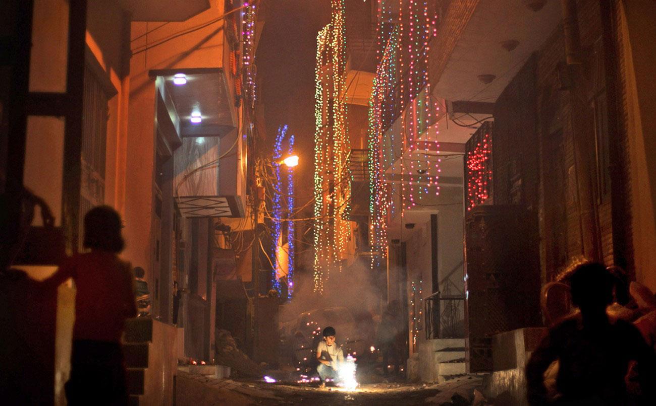 фейерверк в Нью-Дели