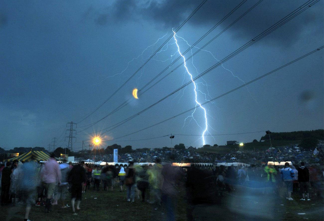 Молния над фестивальной площадкой