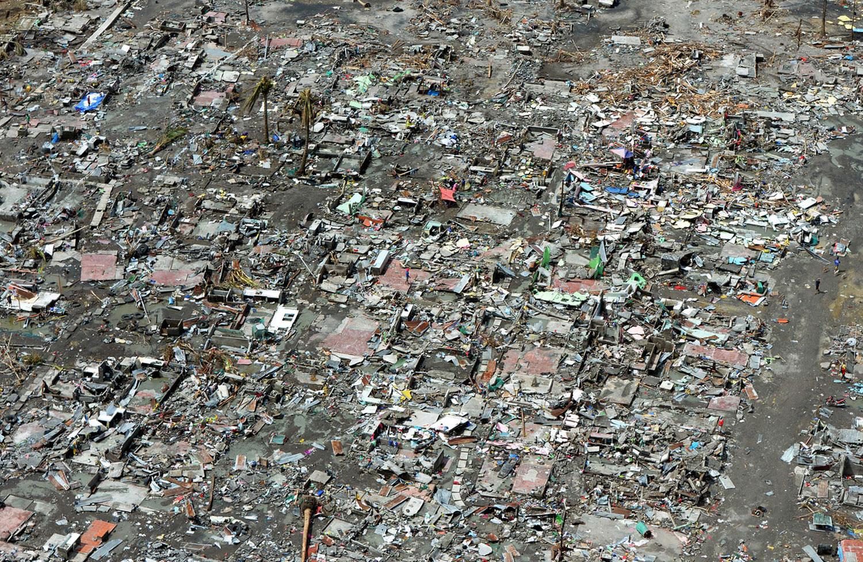 Уничтоженный тайфуном город