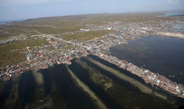 Разрушения в Guiuan