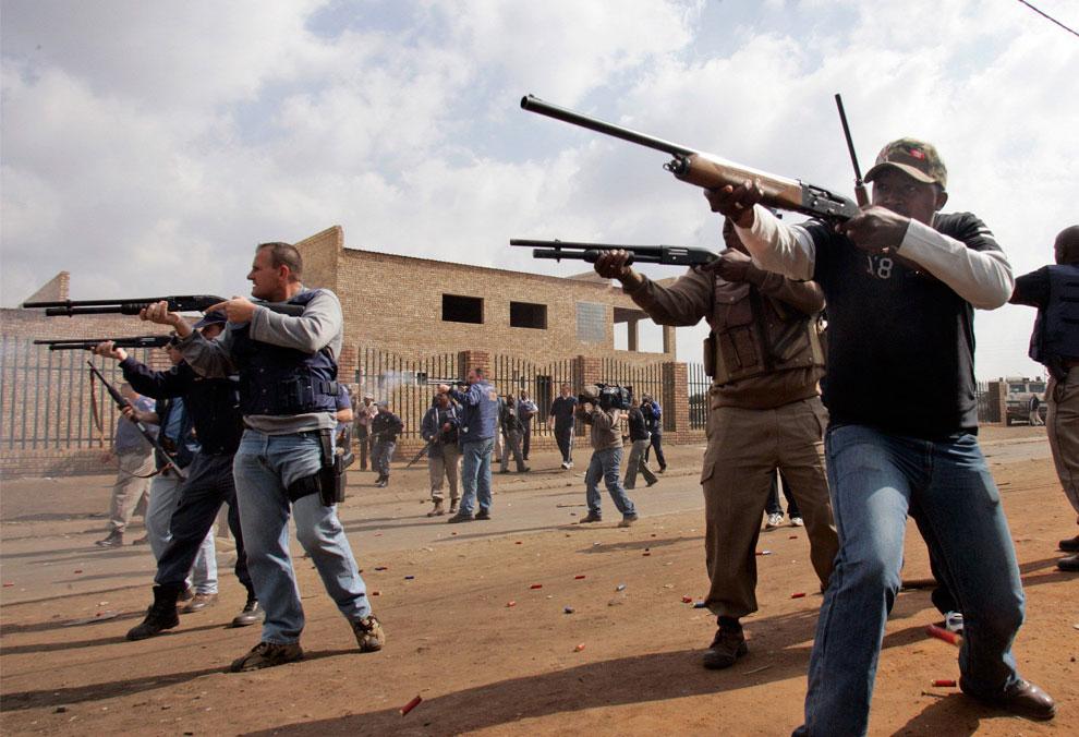 Южноафриканские полицейские