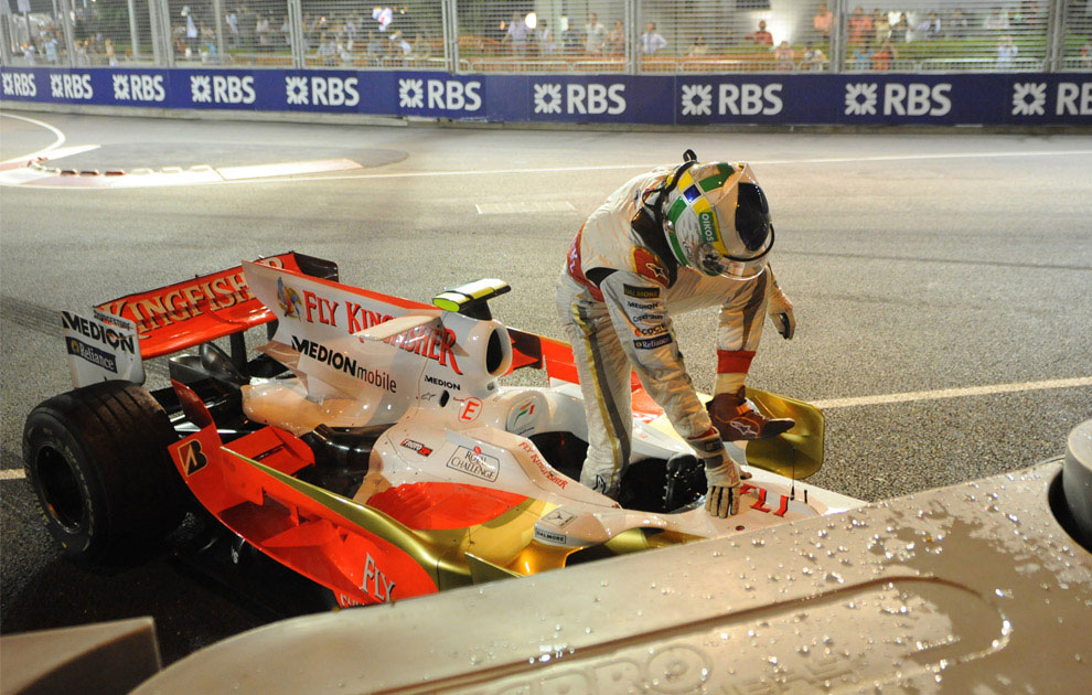 Джанкарло Физикелла, авария на Формуле-1, фото
