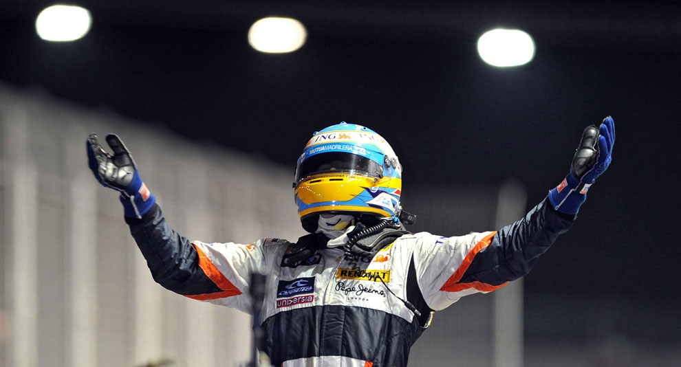 Испанец Фернандо Диас на Гран-при в Сингапуре 2008, фото