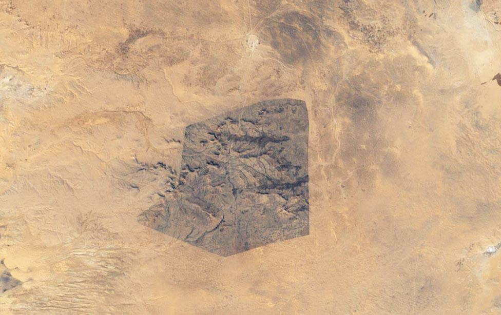 парк в южной части Туниса, фото из космоса