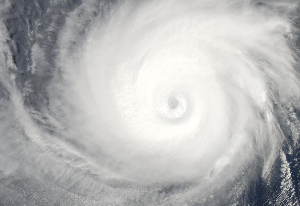 циклон Билли у берегов Западной Австралии, фото из космоса