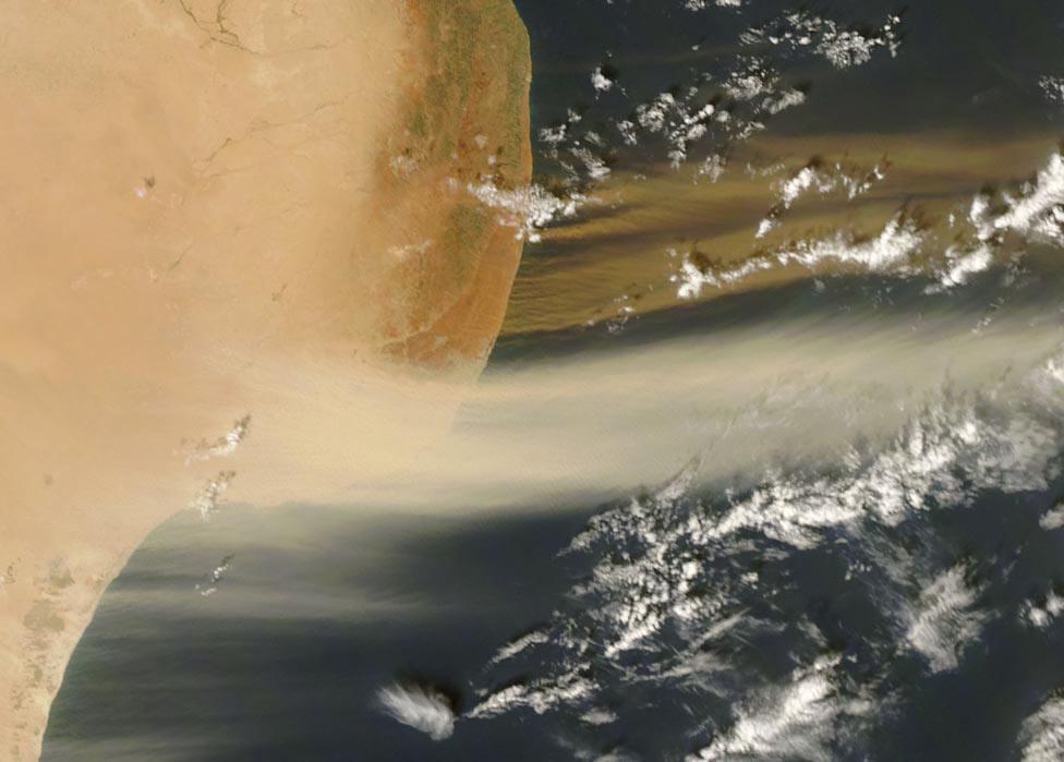 север побережья Ливии, фото со спутника