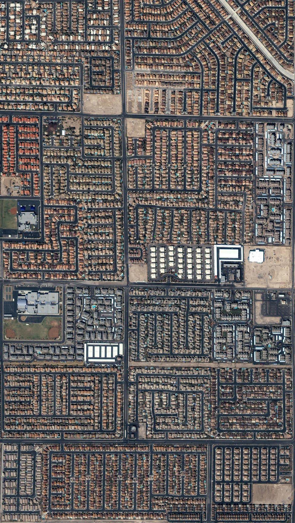 Дома и улицы шумного Лас-Вегаса, фото со спутника