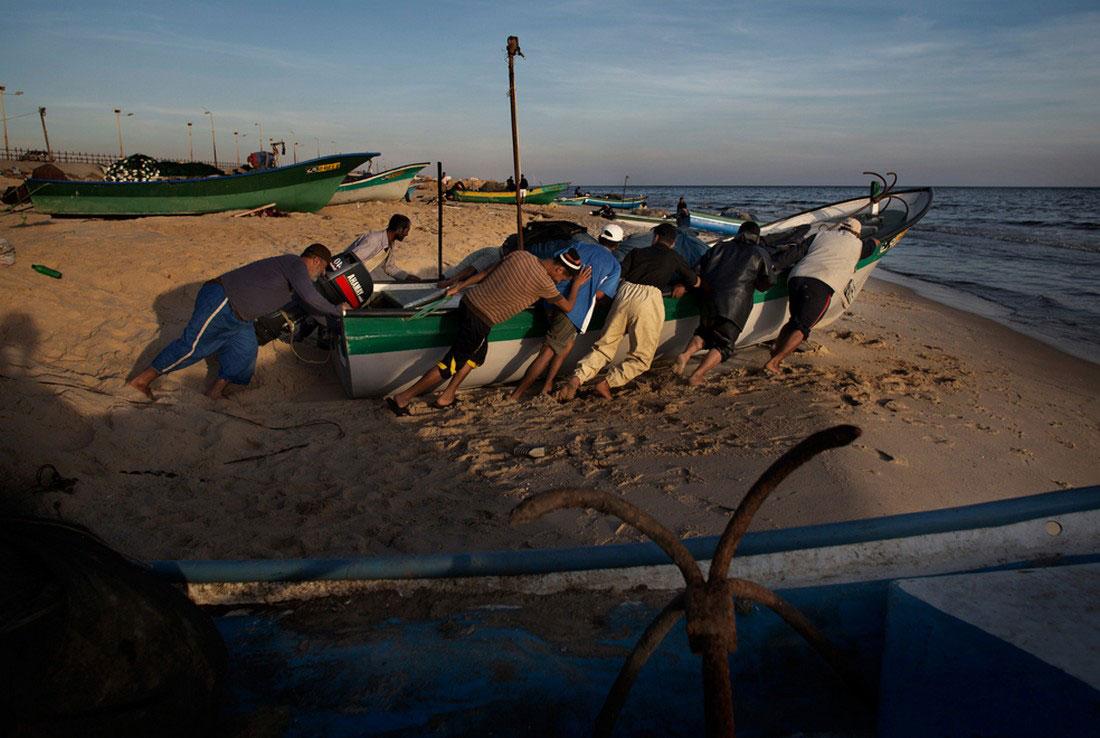 Палестинские рыбаки, фото