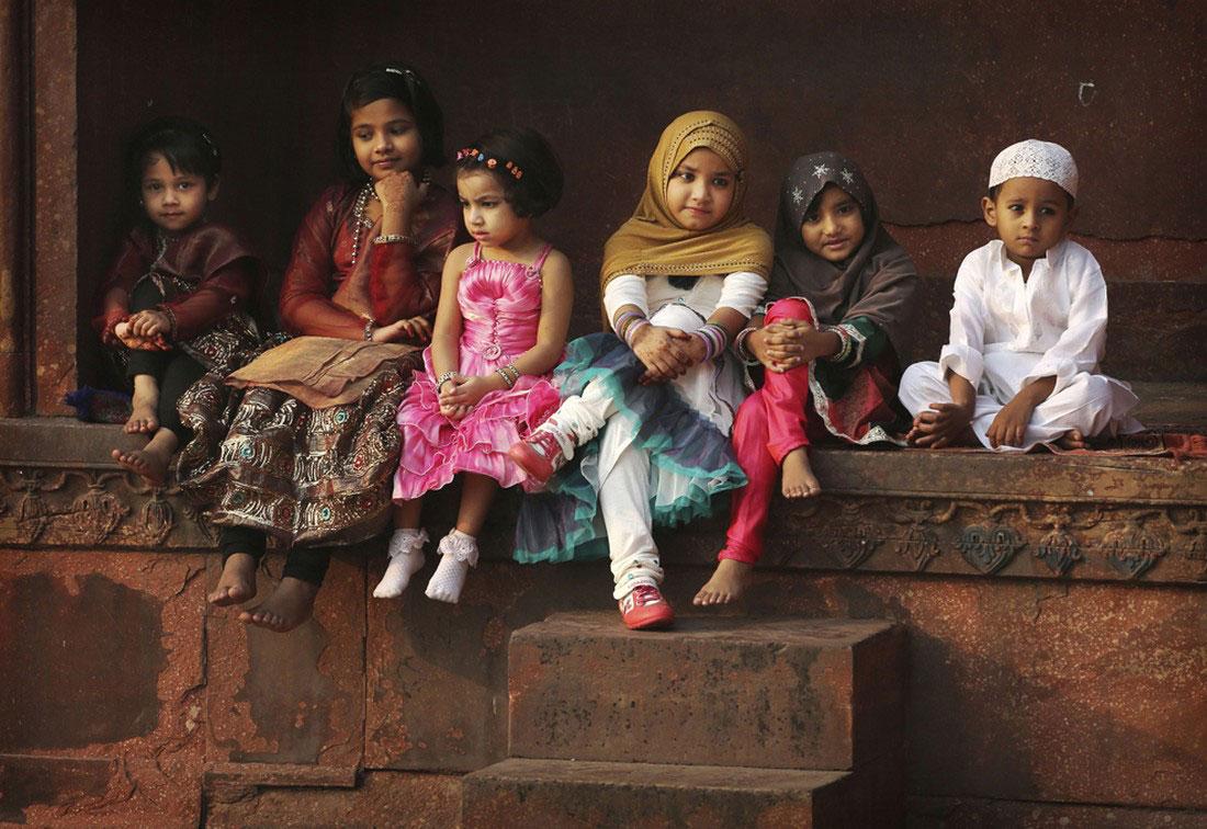 Индийские мусульманские дети, фото