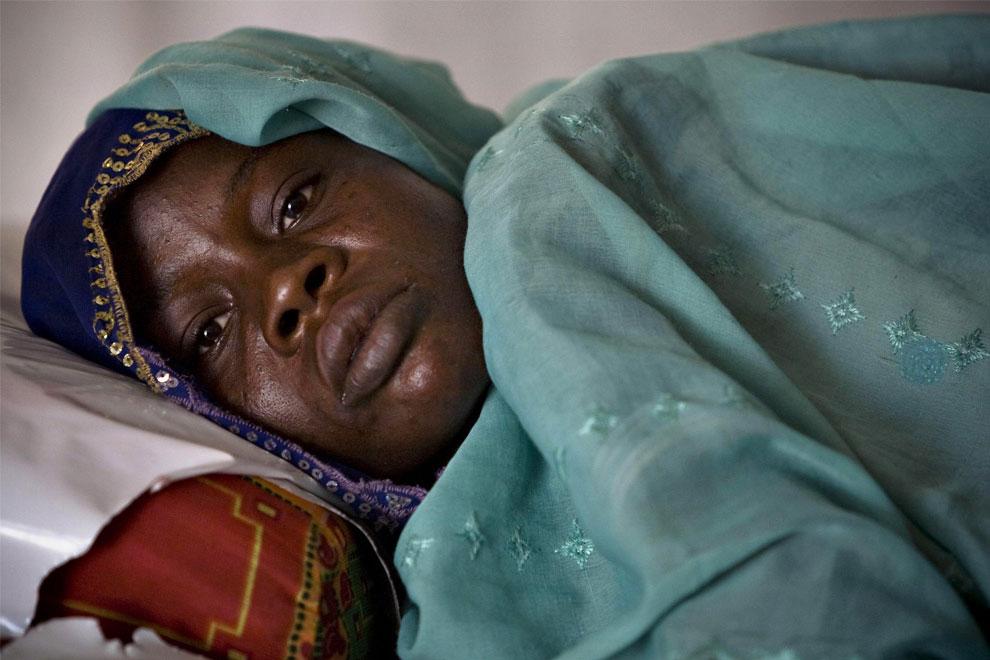 женщина в больнице после избиения