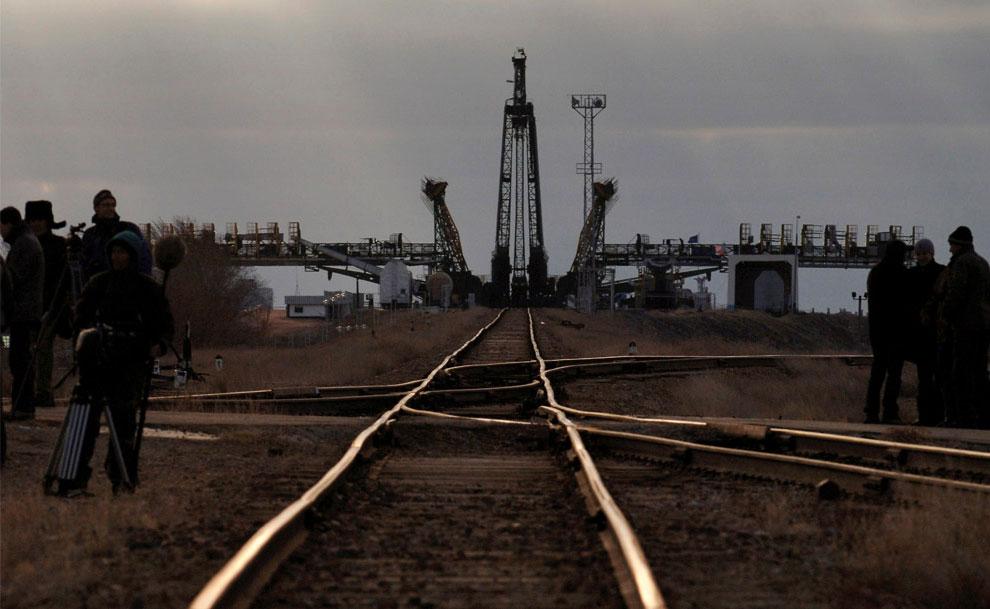 стартовая площадка на космодроме Байконур, фото