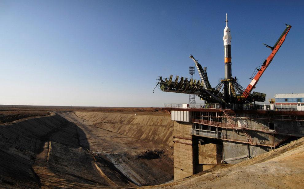 Союз ТМА-11 старт на космодроме Байконур, фото