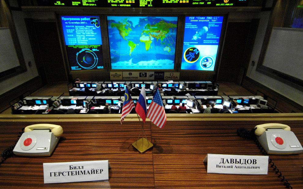 космическая станция в русском центре управления полетами, фото