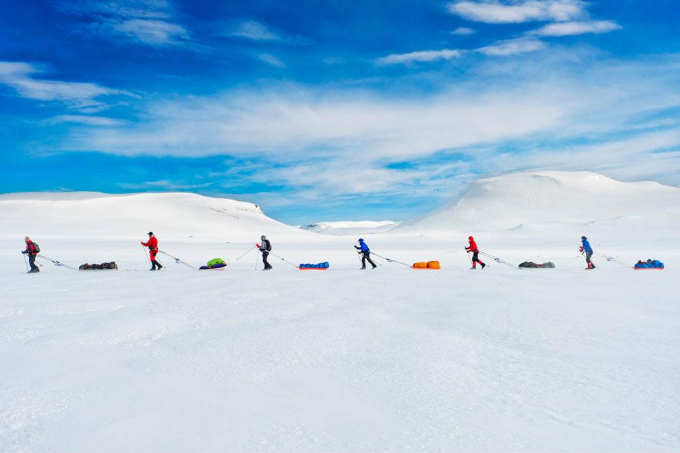 экспедиция пересекает Гренландию, фото