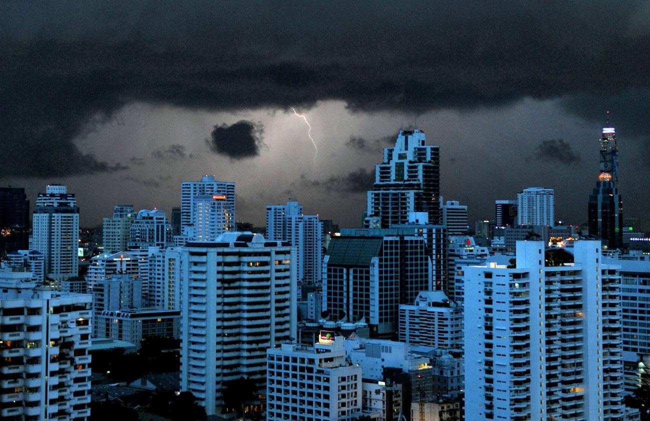 Молния в Бангкоке, фото