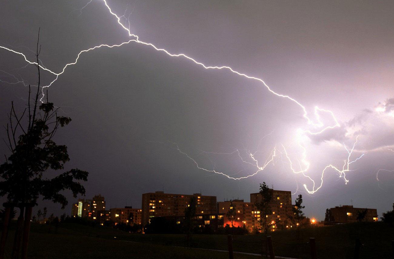 непогода в Праге, фото