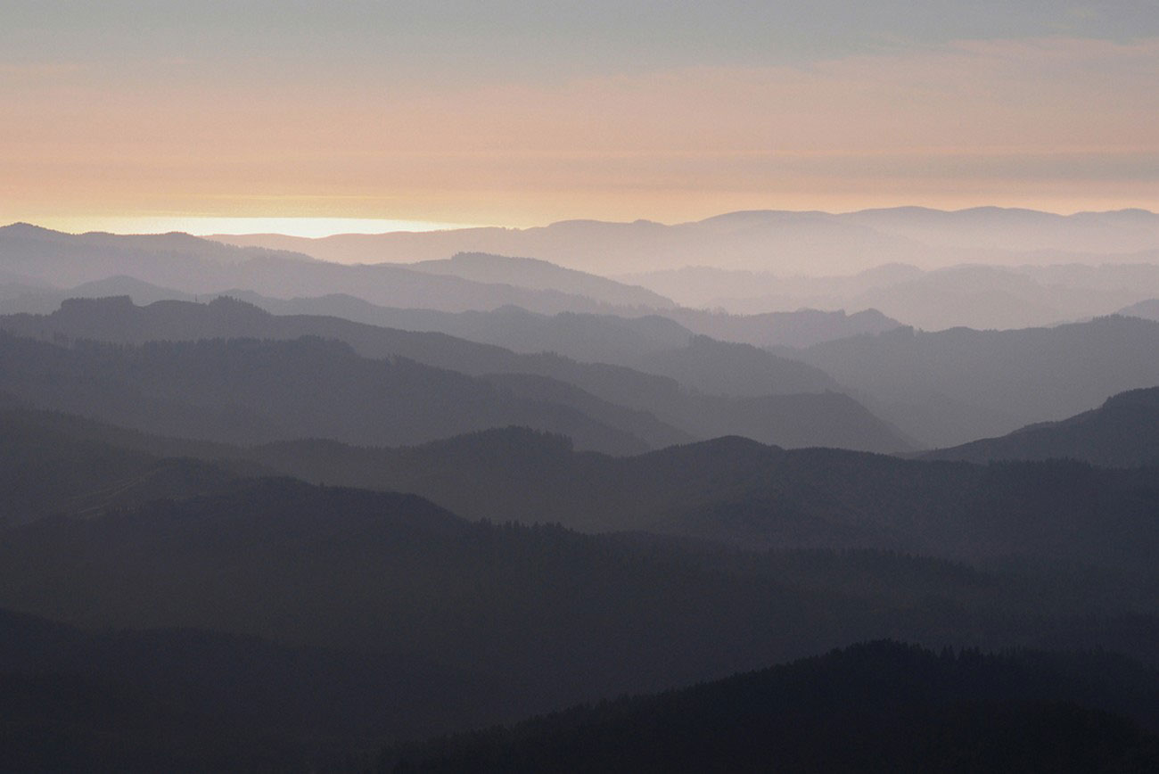 горы на побережье Орегон, фото