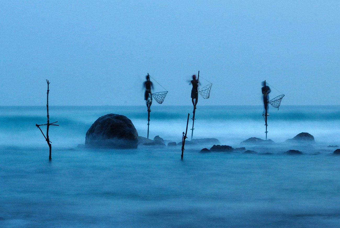 рыбаки Шри-Ланки, фотография