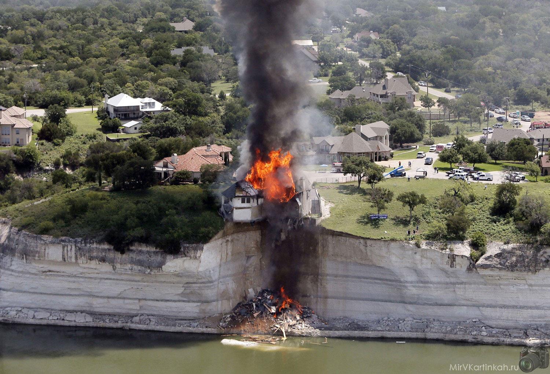 дом горит