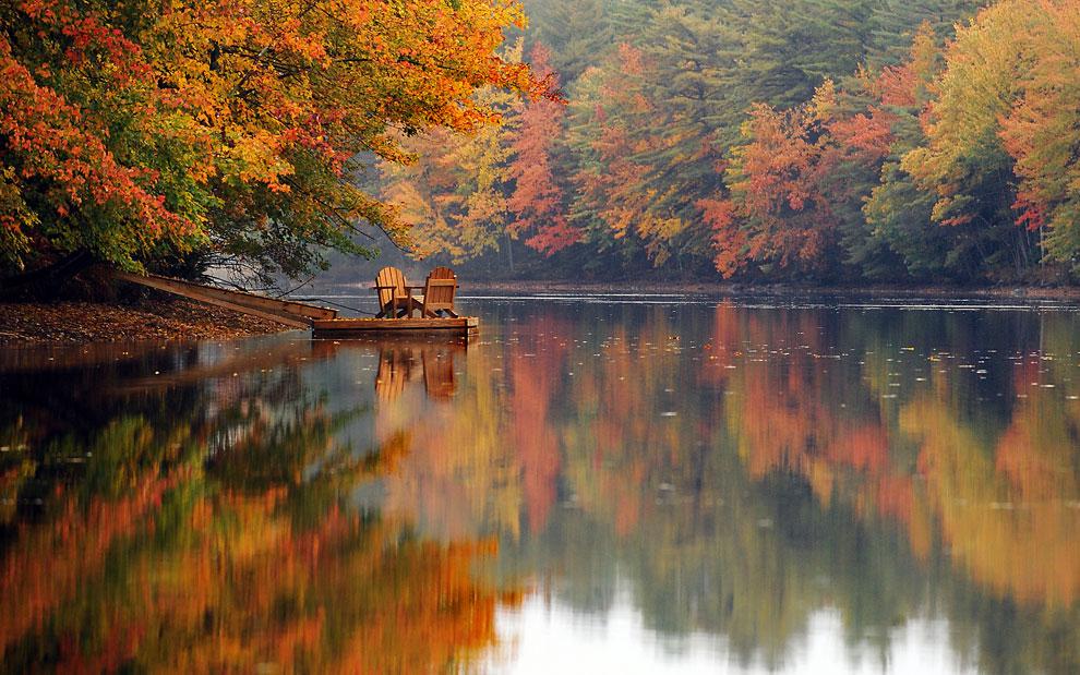 Осень на реке, фото