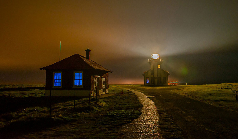 Туманная ночь в Точке Кабрильо