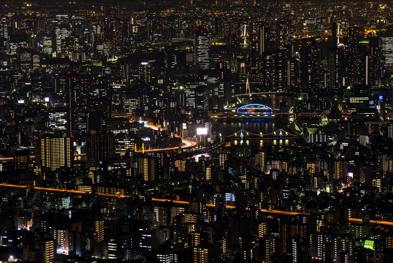 ночное Токио