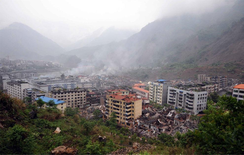 фото землетрясения в Китае