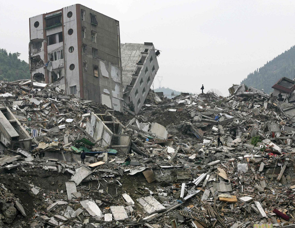 разруха, горе после катастрофы