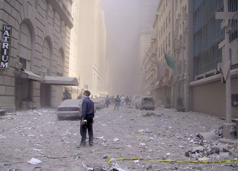 Улицы Манхэттена 11 сентября 2001 года, США, фото