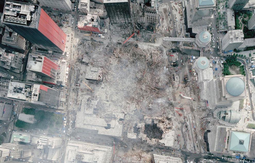 крушение башен-близнецов, 11 сентября 2001 года, США, фото