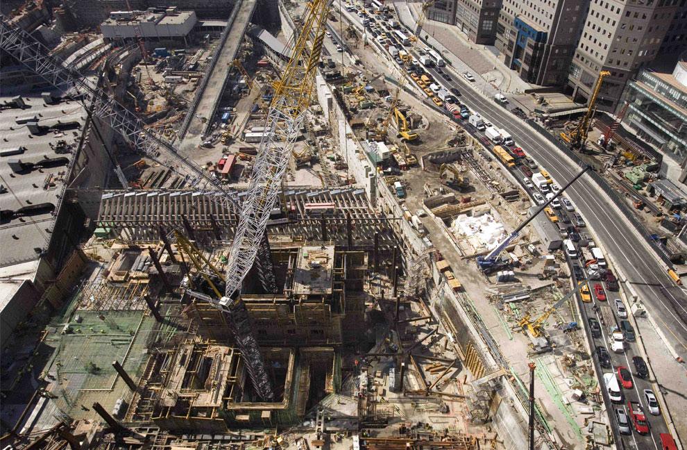 Строительство Башни Свободы, 11 сентября 2001 года, США, фото