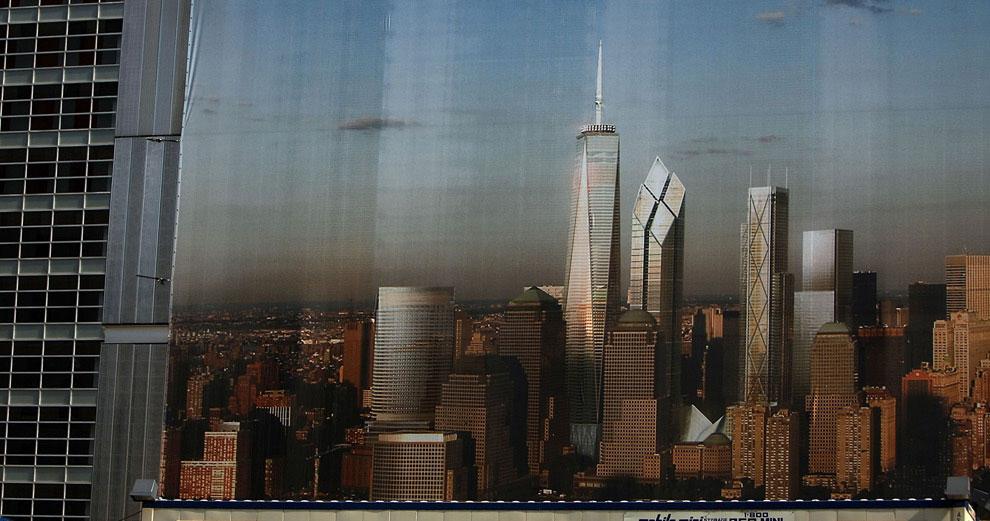 строительство в Манхэттене, 11 сентября 2001 года, США, фото