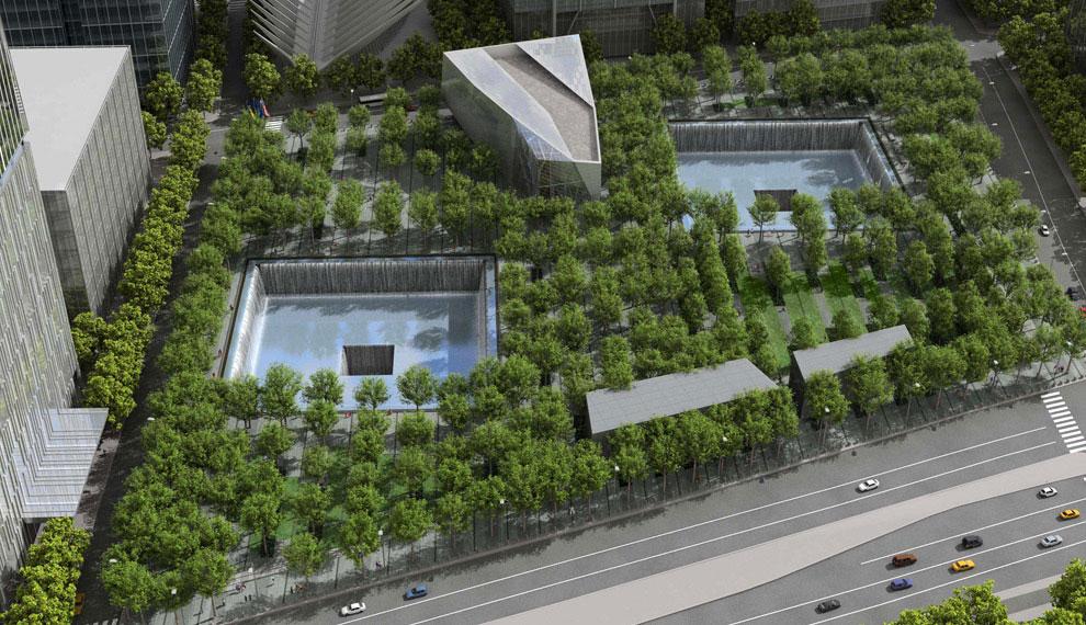 открыт мемориал на месте трагедии, 11 сентября 2001 года, США, фото