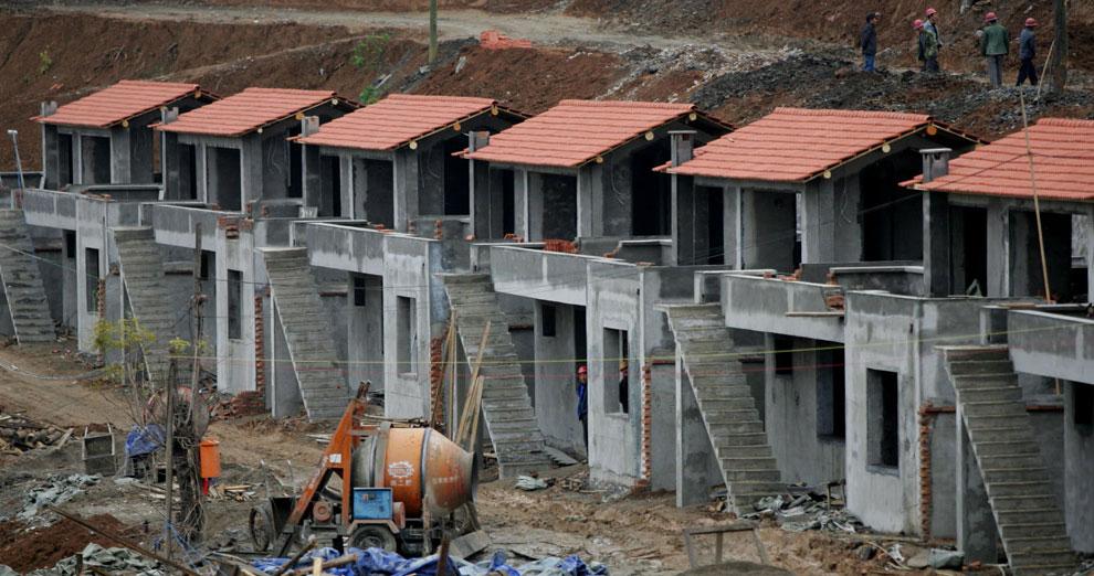 строительство новых домов, Бэйчуань, Китай фото