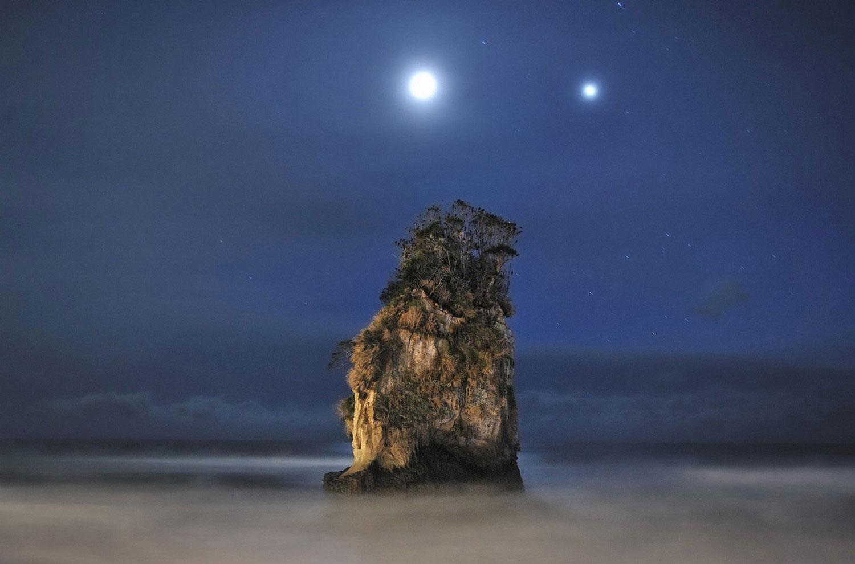 Юпитер и Луна на фото