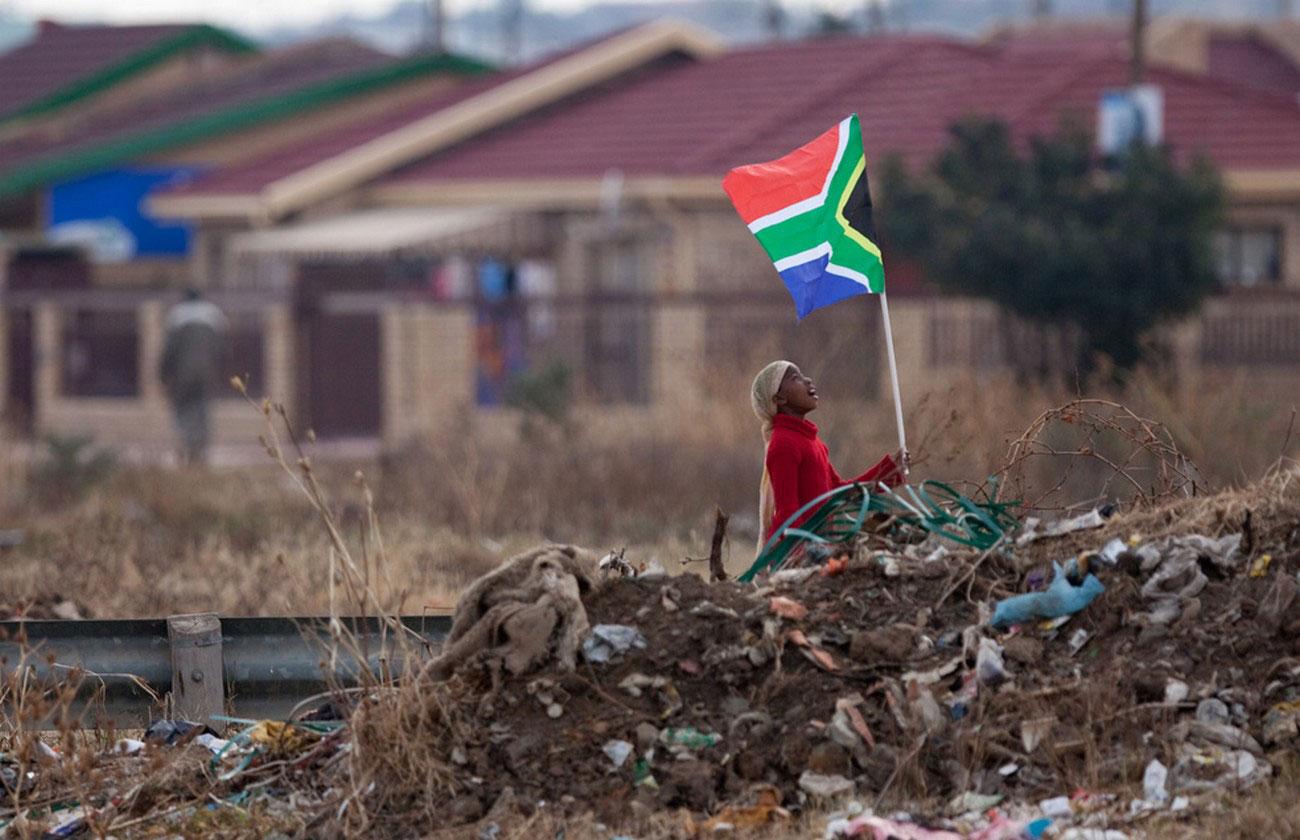 южноафриканский флаг на футболе, фото