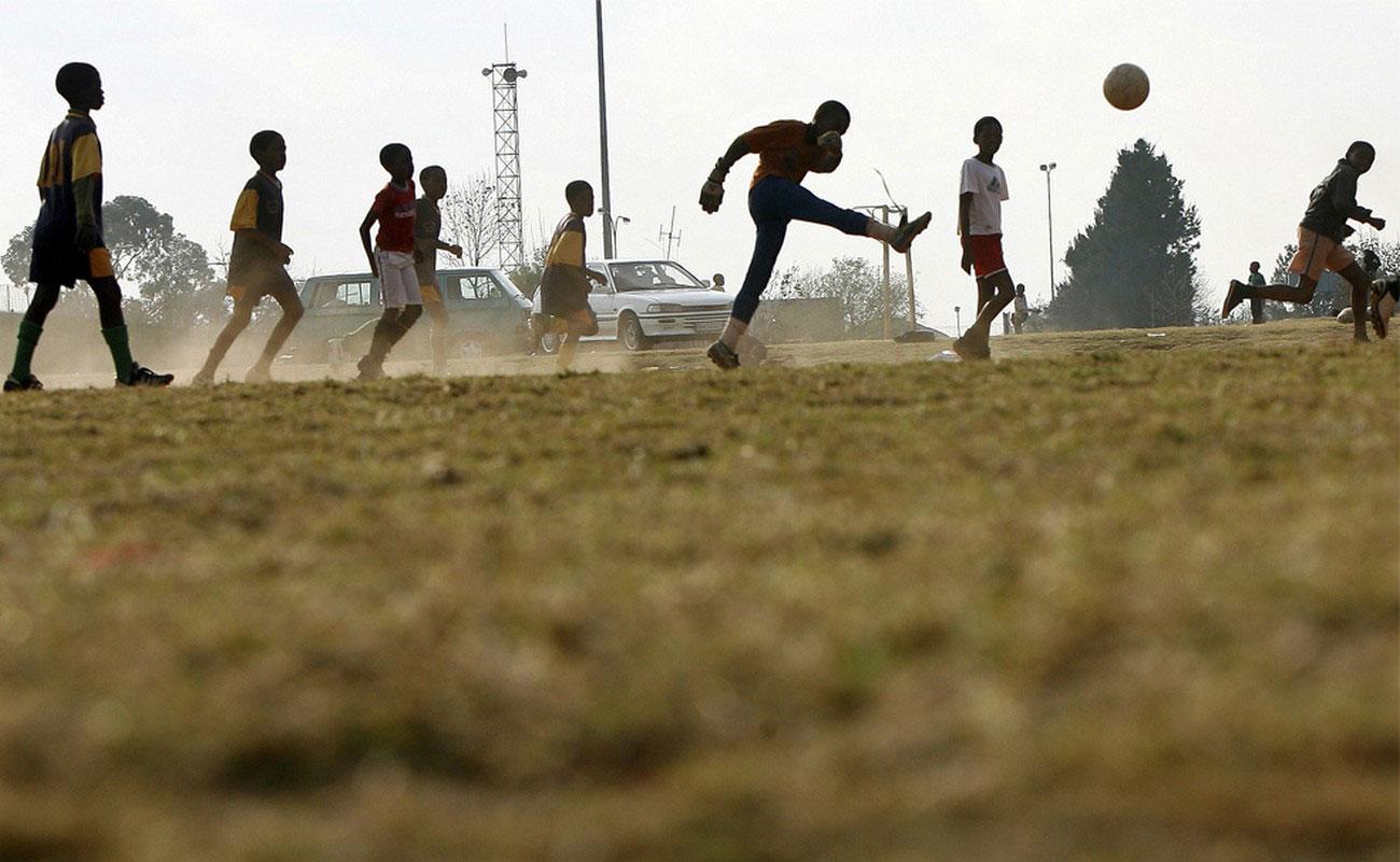 Неофициальный футбольный матч в ЮАР