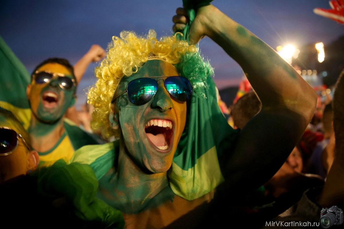 Бразильские футбольные фанаты